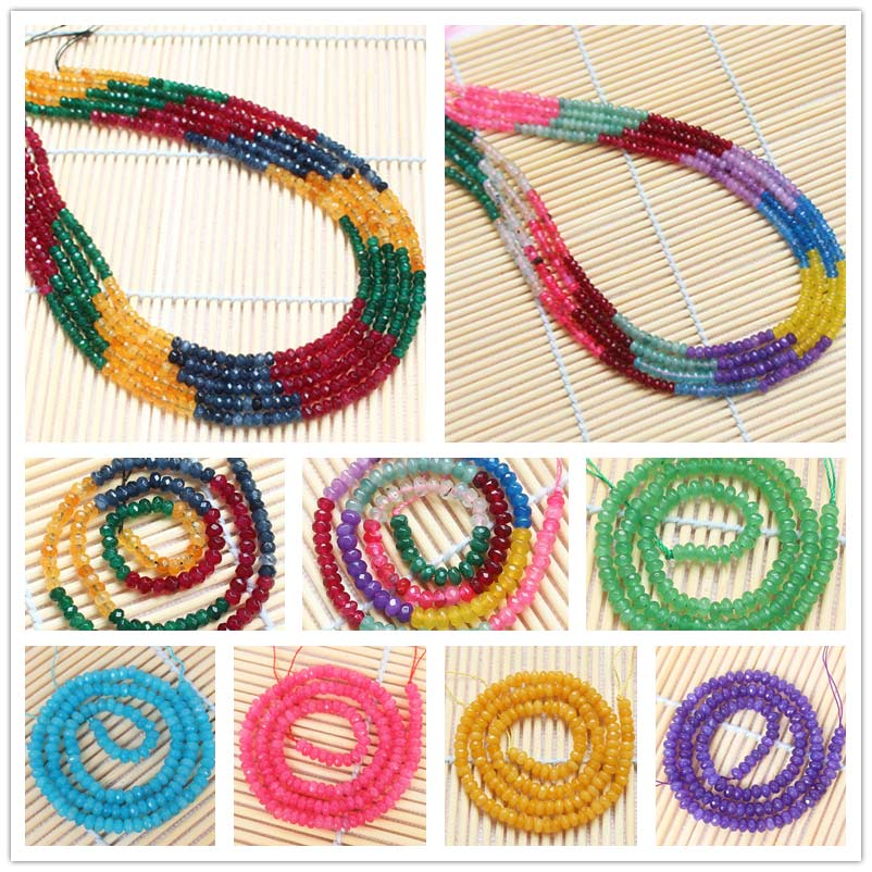 Wholesale <font><b>2x4mm</b></font> Faceted Jades Rondelle Beads15