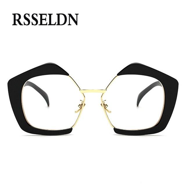99916f4e7d4bbf RSSELDN 2017 Nieuwe Mode Vintage Brillen Frames Vrouwen Merk Designer  Optische Brillen Frame Glazen Mannen UV400