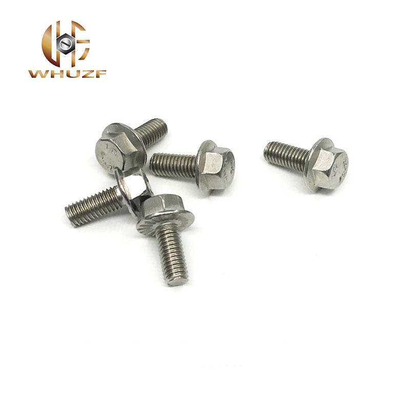10pcs//lot M8 x 1.25Pitch x 50mm A2 Stainless Steel Hex Cap Flange Bolt Metric