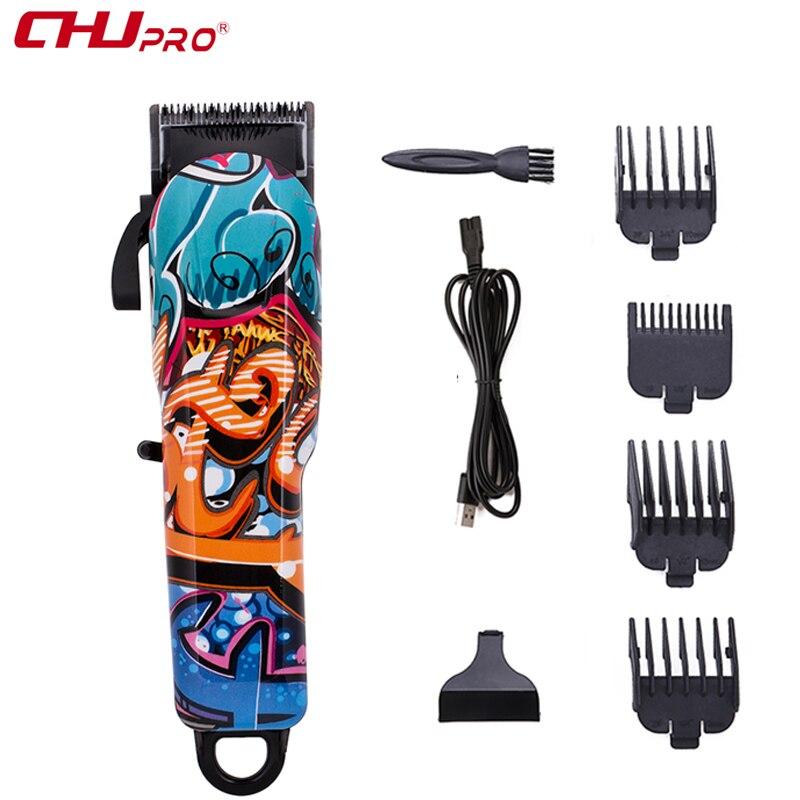 CHJ Rechargeable tondeuse électrique USB Multi couleur tondeuse à cheveux hommes professionnel coupe de cheveux Machine barbe rasoir épilation