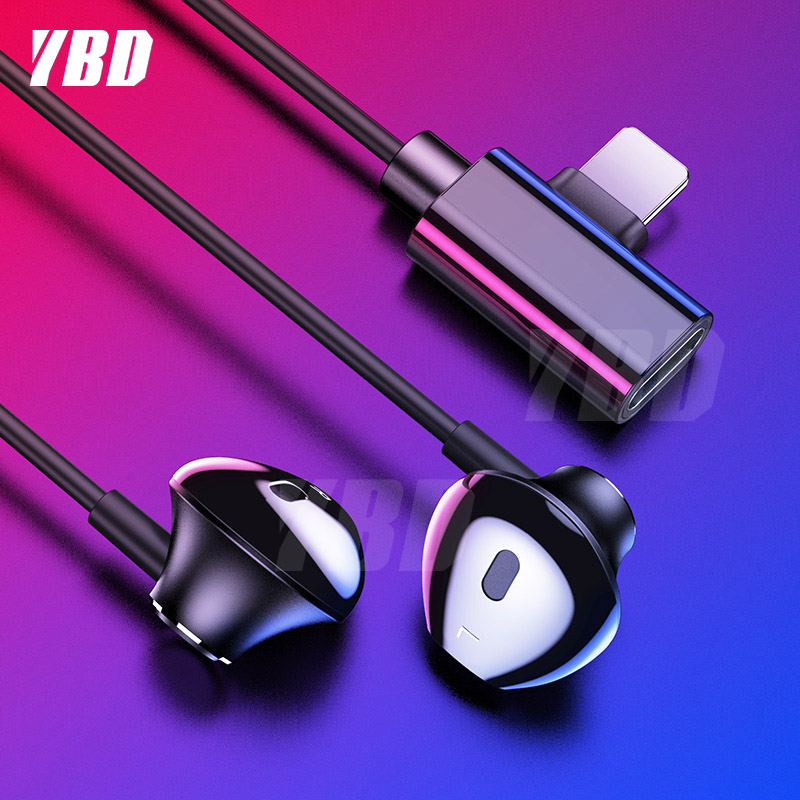 YBD In-Ear Earphone For Phone Wired Earphones Stereo Sound Wired Headset For iPhone 7/ 8/ X/ XR/ XS/ Adapter Wired Earphone