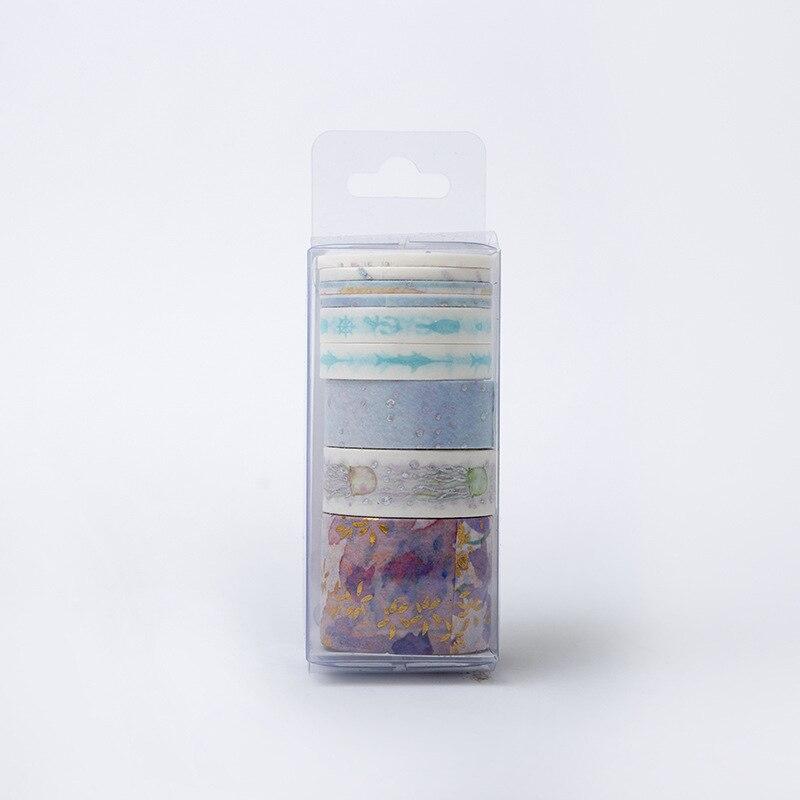 Underwater World washi tape Hot stamping masking tape Kawaii washi stationery 4 Pcs Set washitape cinta adhesiva decorativa in Office Adhesive Tape from Office School Supplies