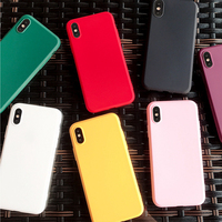 5 iphone 5s Candy Color Phone Case for iPhone 7 Case 6 6s 8 Plus 5 5S 5Se Solid Color Soft Matte TPU Back Cover for iPhone X XR XS MAX Cover (2)