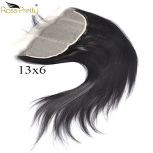 Remy Brazilian Straight Frontal Light Brown Transparent Lace 13x6 Pre plucked Baby Hair Lace Front human hair Middle/Free Part(China)