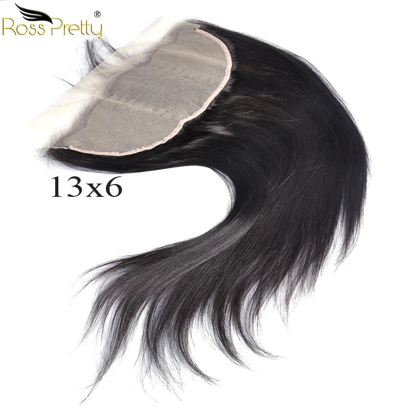 Ross Jolie Remy Brésilienne Droite Transparent Dentelle Frontale 13x6 Pré pincées Bébé Cheveux Avant de Lacet de cheveux humains Milieu /Partie libre