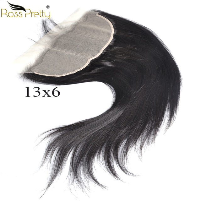 Ross Pretty Remy Brazilian Straight Transparent Lace Frontal 13x6 Pre plucked Baby Hair Lace Front human hair Middle/Free Part