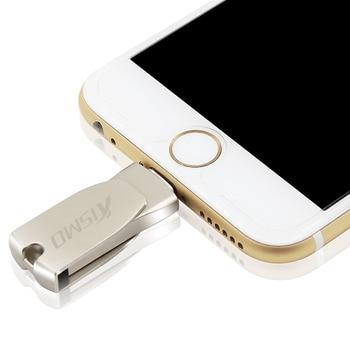 Kismo USB Flash Drive de memoria iphone OTG U disco de Metal USB impulsión de la pluma para iphone 8X6 7 además de 6S 5S iPad aire Mini 2