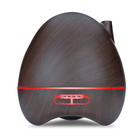 300ml Aroma Essential Oil Diffuser Ultrasonic Air Humidifier 7 Color Changing LED Lamp Wood Grain Aromatherapy