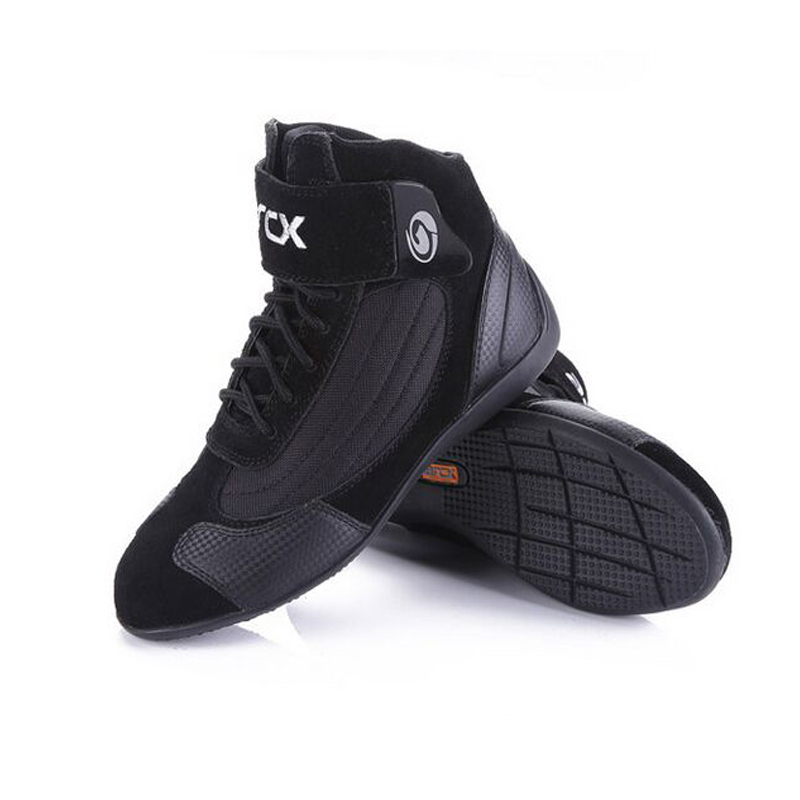 Bottes de Moto de course ARCX chaussures en cuir de vache Véritable