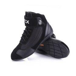حذاء قصير للدراجة النارية من ARCX حذاء سباق من جلد البقر حذاء الدراجة النارية مناسب للسير في الشارع