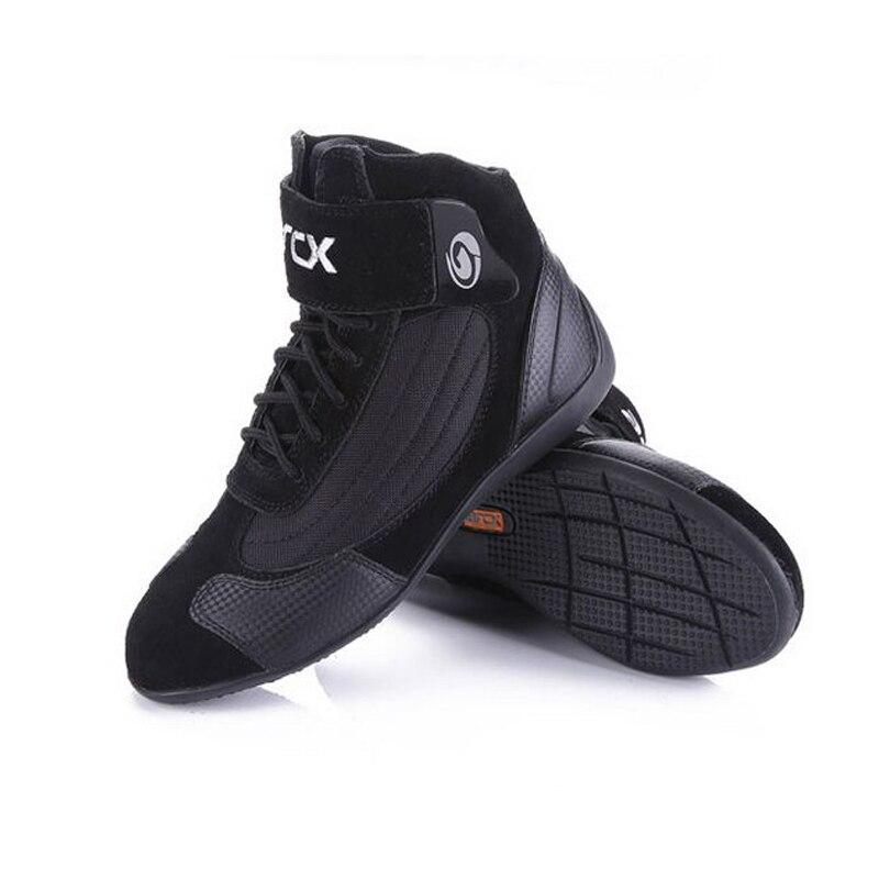 ARCX bottes courtes Moto cuir de vache chaussures de course Moto de rue Moto Moto Motocross Chopper botte bottes de Moto