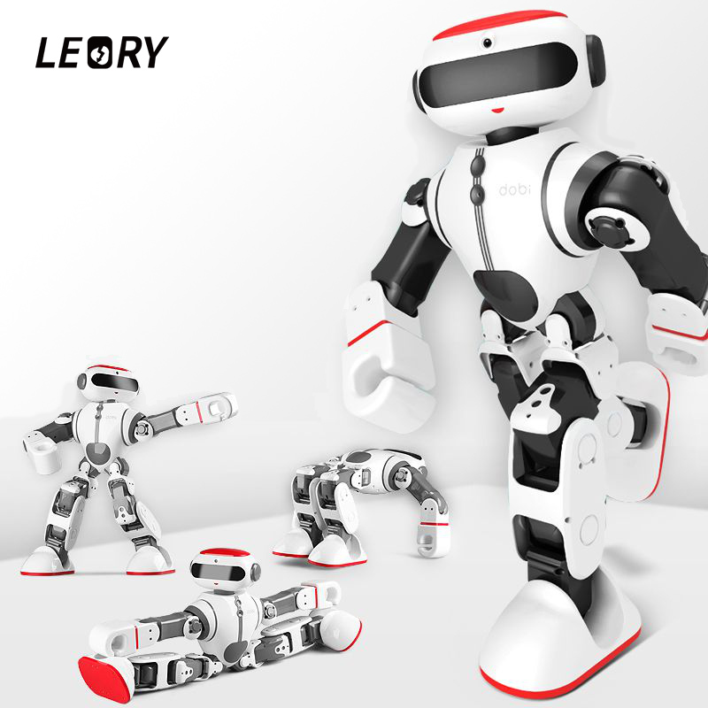 LEORY Voice Control Robot Intelligent Humanoid App Control RC DIY Robot Voice Recognition Toys For Children Kids Gifts Present стоимость