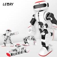 Leory голос Управление Интеллектуальный робот гуманоид приложение Управление RC DIY робот распознавания голоса Игрушечные лошадки для Для дете