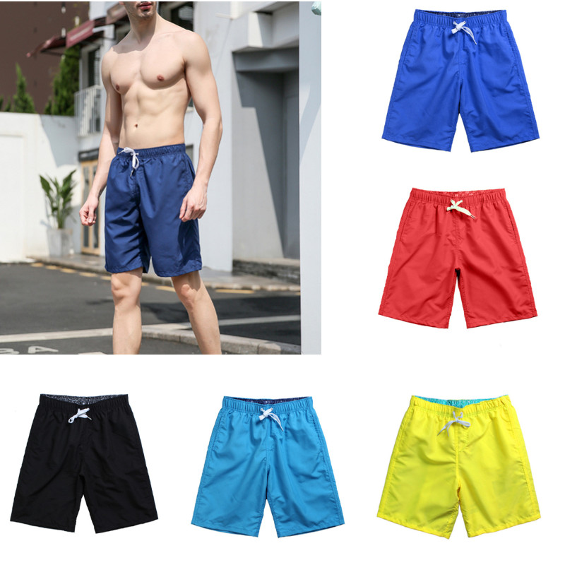 Men Casual Swim   Shorts   Trunks Beach Adjustable   Board   Swimming   Short   With 5 Pockets Pants Swimsuits Mens Cotton Casual   Shorts