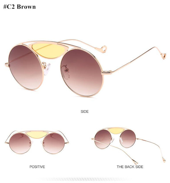 28c82a0a36 HBK Vintage Sunglasses Women Red Pink Yellow Candy Color Sunglass Woman  Retro Eyewear UV400 Goggles 2018 oculos de sol feminino