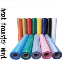 0.3x5m PU Heat Transfer Vinyl 12x16ft for T Shirts Garments Bags and Other Fabrics by Plotter Cutter