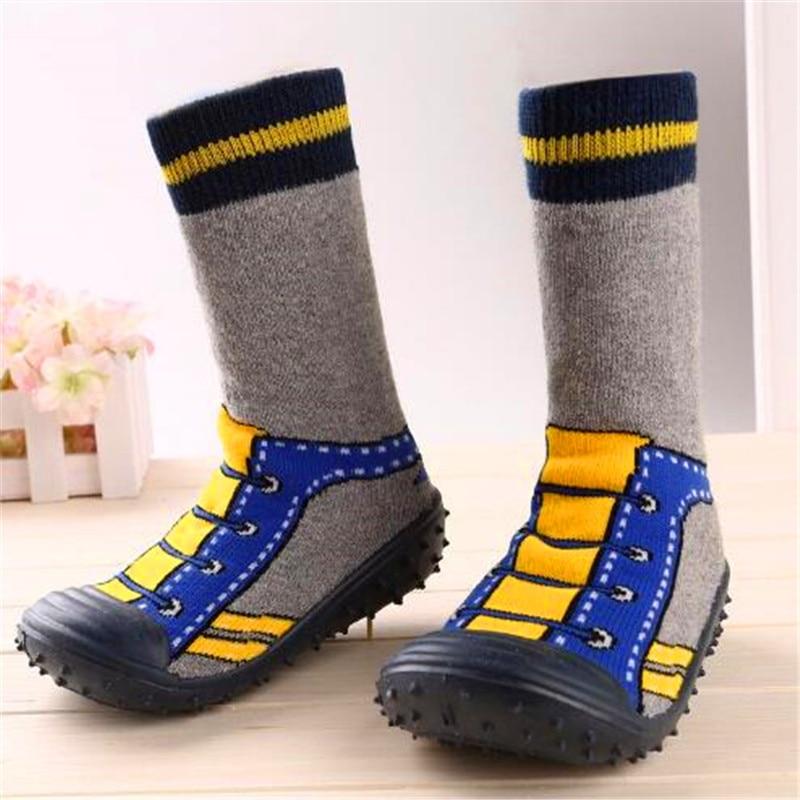 Kleinkind Schuhe Baby Mädchen Jungen Socken mit Gummisohlen Anti - Babyschuhe - Foto 4