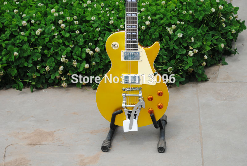 Guitare électrique livraison gratuite guitare + lp slash guitare + or top + grand tremolo guitare électrique/guitarra/guitare en chine