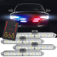 Car Truck Emergency Light Flashing Firemen Lights 4 6 Led Car Styling Ambulance Police Light Strobe