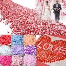 1000pcs/lot Artificial Flower Petal Silk Rose Petals Artificial Flowers for Wedding Decoration Decorative Flowers Wreaths