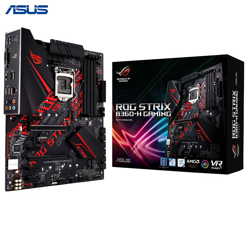 Asus ROG STRIX B360-H GAMING Desktop Motherboard Intel B360 LGA 1151 Socket DDR4 64GB E-sports Game board image