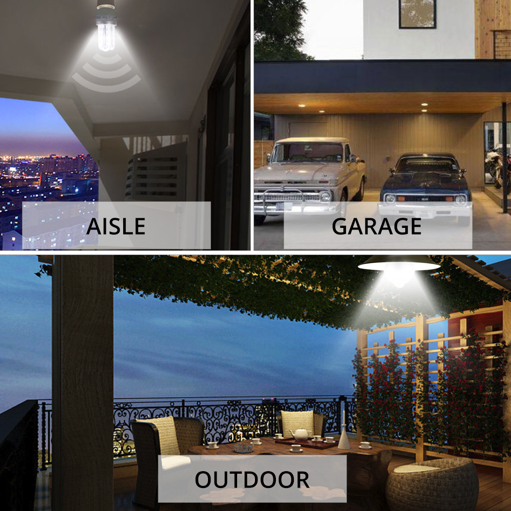 Image 5 - B22 E27 LED Night Light Motion Activated ON/OFF PIR Motion Sensor LED Lamp Light Smart Induction Bulb Stair Hallway Night Lamp-in Night Lights from Lights & Lighting