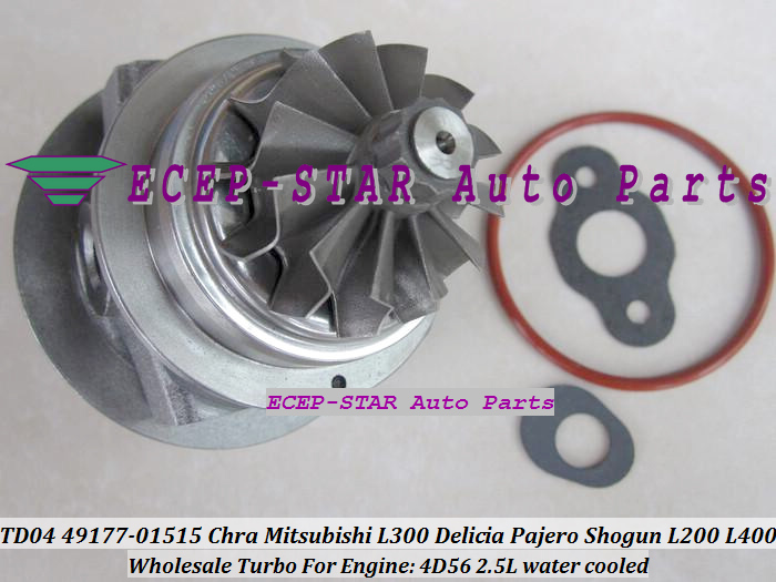 Turbo CHRA Cartridge Core TD04 49177-01512 For Mitsubishi Delica L300 L200 Pajero Shogun For Hyundai galloper 4D56 2.5L Water C