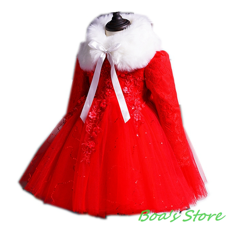 Baby Girls Red Pink Blue Long Sleeve Full Dress Ball Gown Flower Party Wedding Special Princess Kids Dresses For Girls Clothes red blue kids dresses for girls long sleeve princess dress girls clothes flower bow decortion baby infant girl dress cheep price