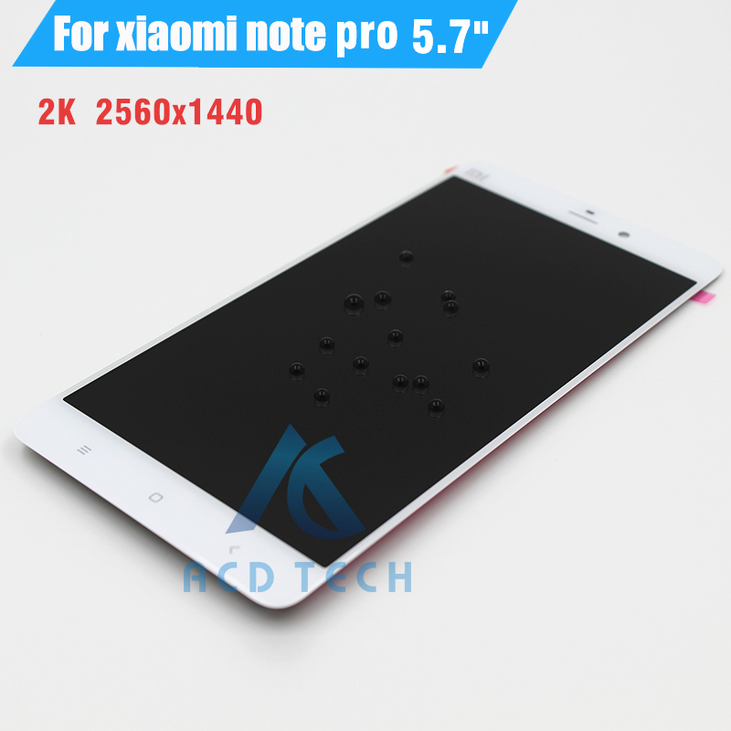 For Xiaomi mi note pro LCD Display+Touch Screen Digitizer Assembly Free shipping note pro 2k lcd for xiaomi mi note pro lcd display 2k touch screen tools 100% new digitizer 2560x1440 5 7 assembly replacement for phone
