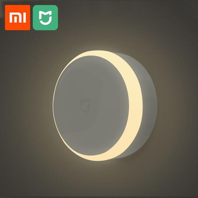 Xiaomi mijia conduziu a luz da noite do corredor sensor de movimento corpo para xiaomi infravermelho controle remoto noite luz casa inteligente lâmpada