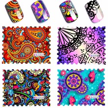 4 Pcs/Lot Water Transfer Nail Art Sticker Watermark Decals DIY Decoration For Beauty Nail Tools