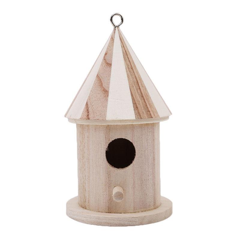 Us 3 41 40 Off New Hot Sell Wooden Bird Feeder Diy Bird Nest Tongmu Pine Wood House Creative Wall Mounted Wooden Outdoor Bird House In Bird Feeding