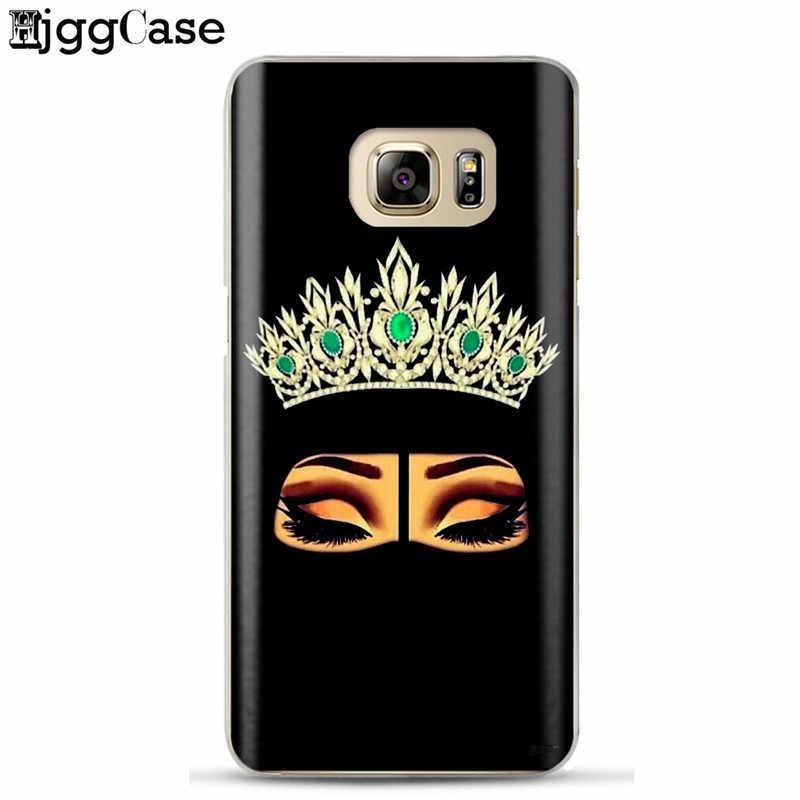 Müslüman İslam Gözler Arap Başörtüsü Kız telefon samsung kılıfı Galaxy A5 A520 S6 S7 Kenar S8 S9 J3 J5 J7 2017 j4 J6 A6 A8 Artı 2018