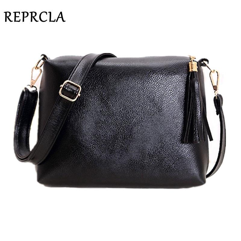 REPRCLA Fashion Brand Designer Women Bag Soft Leather Fringe Crossbody Bag Shoulder Women Messenger Bags Candy Color A866