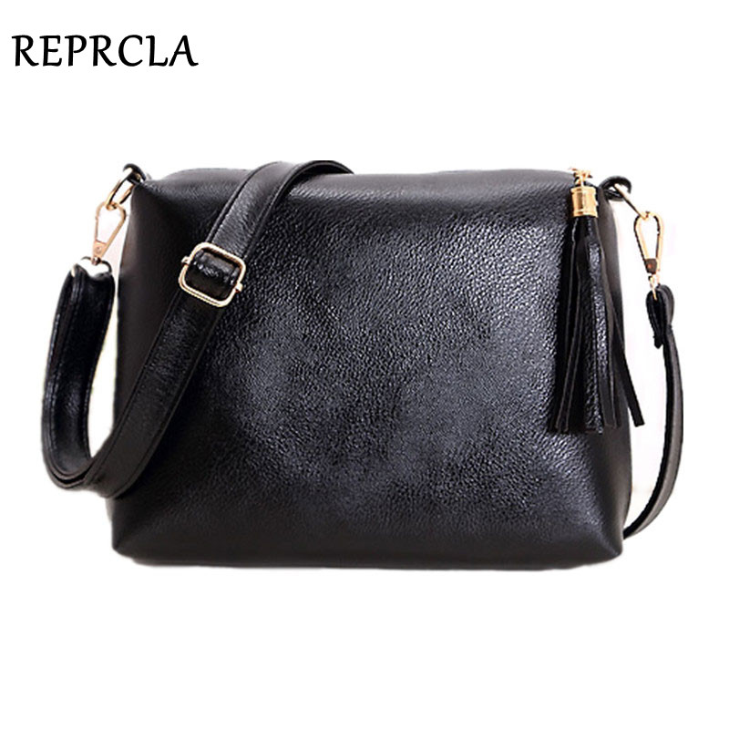 REPRCLA Fashion brand designer women bag soft leather fringe crossbody bag shoulder women messenger bags candy color A866