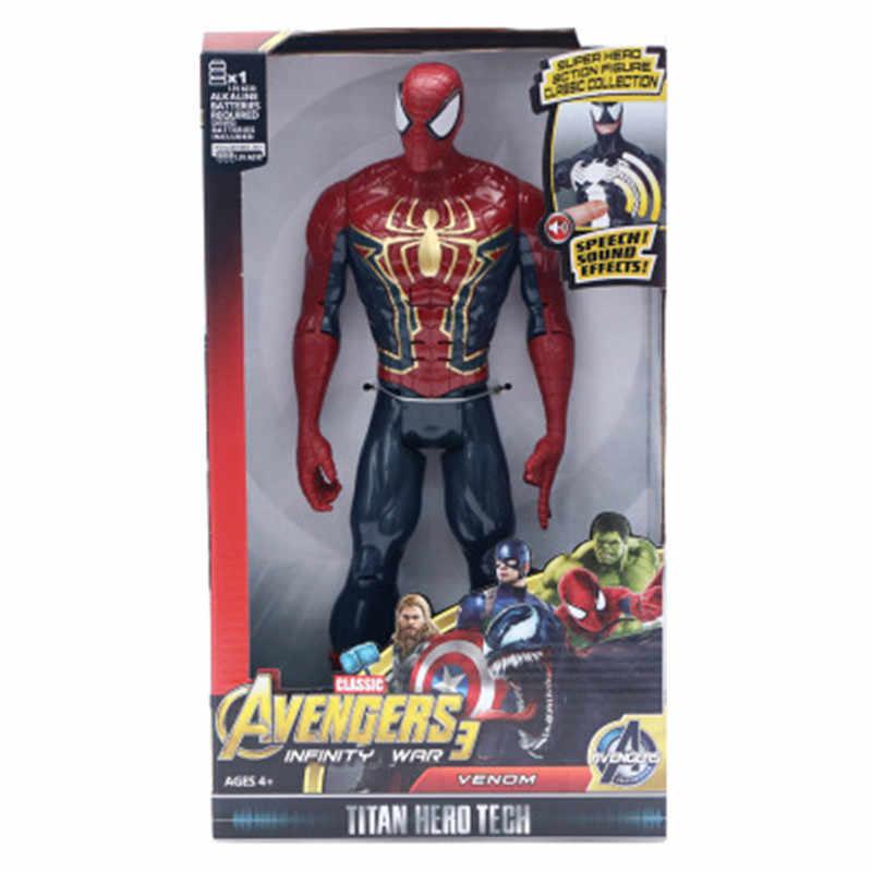 """Marvel super heróis vingadores thanos pantera negra capitão américa thor homem de ferro spiderman hulkbuster hulk figura de ação 12 """"30 cm"""