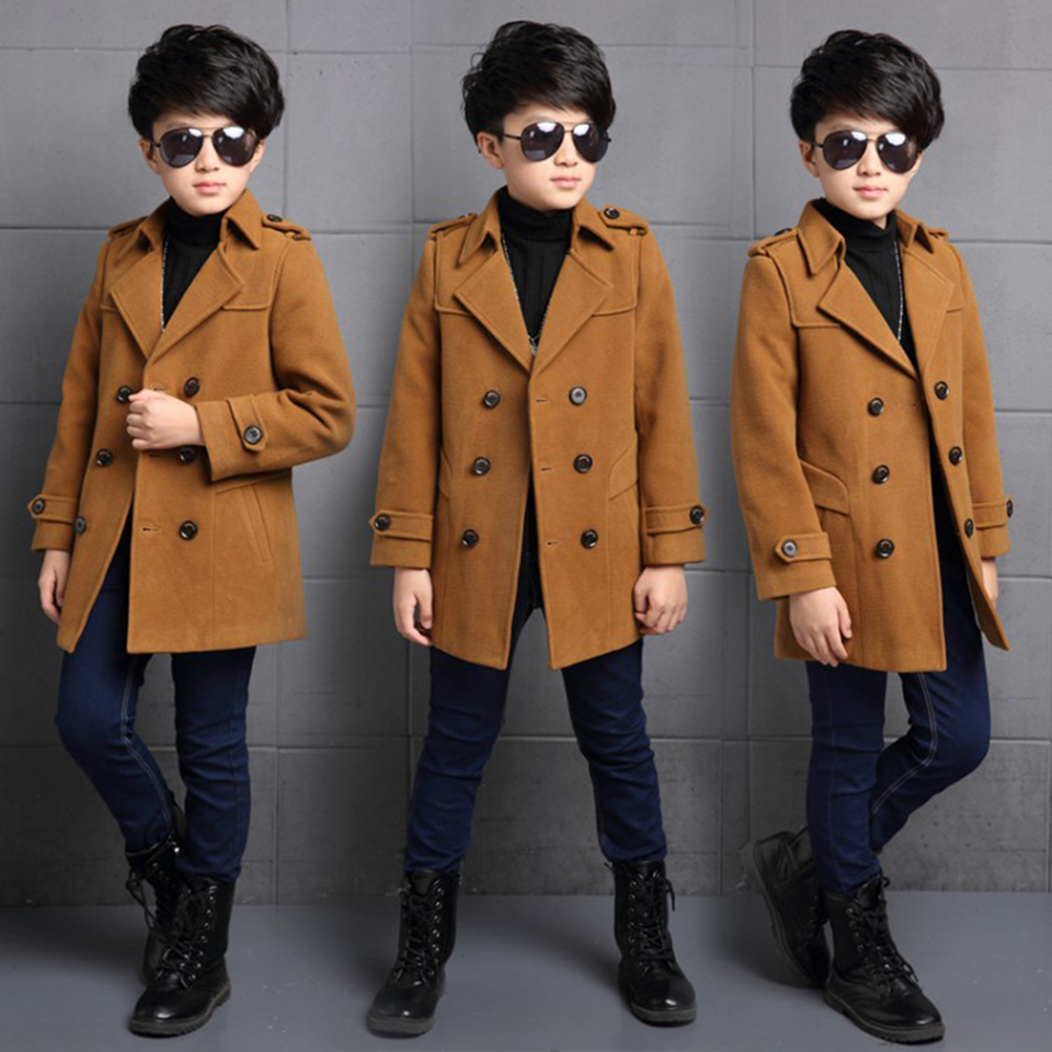 где купить New Baby Boy Clothes Autumn Winter Children's Warm Jackets Coat Kids Casual Fashion Double-breasted Outerwear Coat 3 Colors по лучшей цене