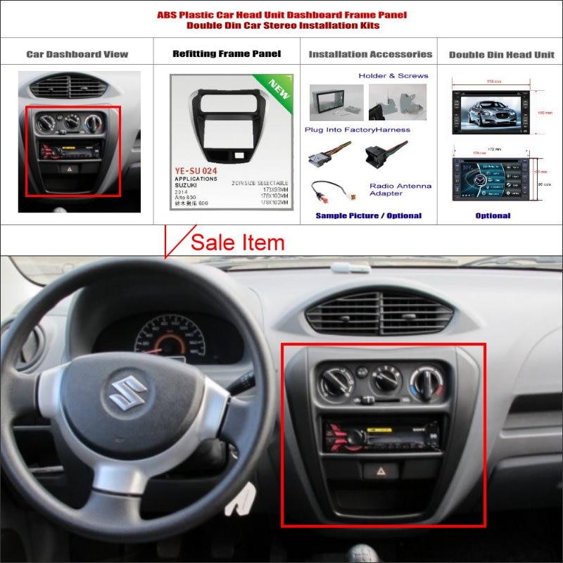 2 DIN ABS Plastic Frame Radio Fascia For Suzuki Alto 800