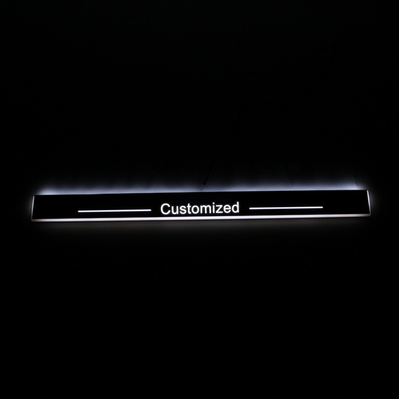 SNCN LED Car Scuff Plate Trim Pedal Door Sill Pathway Moving Welcome Light For Lexus IS250 IS300h IS350 2013 2015 Badge Emblem