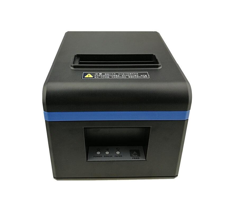 Haute qualité 80mm thermique reçu facture imprimantes cuisine Restaurant POS imprimante avec fonction de coupe automatique aspect élégant - 4