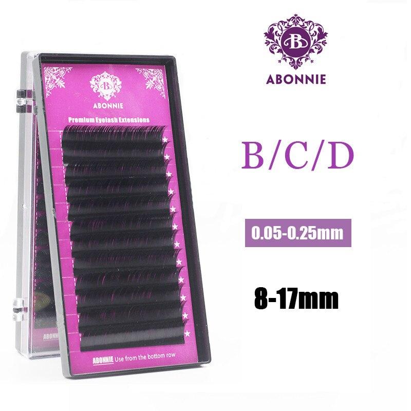 16174ea97ec Abonnie 16/17mm Artificial Fake False Eyelashes Individual natural Mink  Eyelash