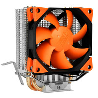 PCcooler CPU Cooler 2 Heatpipe 4pin 8cm PWM Quiet Fan Hydraumatic Bearing For AMD For Intel