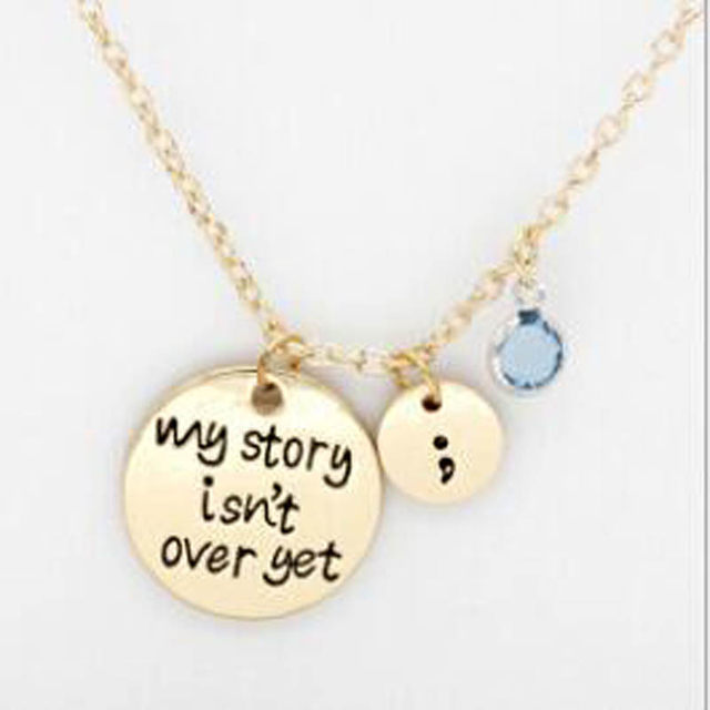 online shop simple round letter necklace my story is not over yet encourage yourself inspirational necklace birthday gift aliexpress mobile