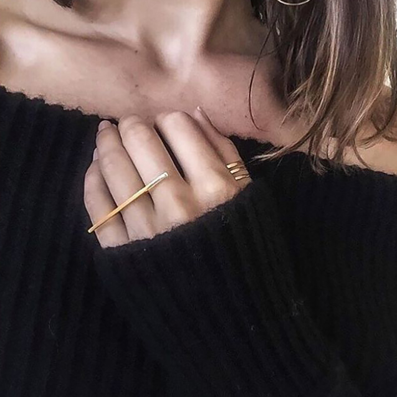 Female Jewelry Fashion Lines Rings For Women Simple Geometric Jewelry Accessory