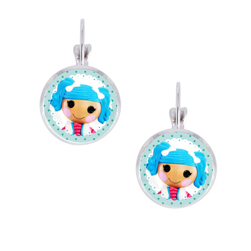 1pair Lalaloopsy Photo Glass Cabochon Clip Earrings, Little Girl Alloy Clip  Earrings, Handcrafted Party