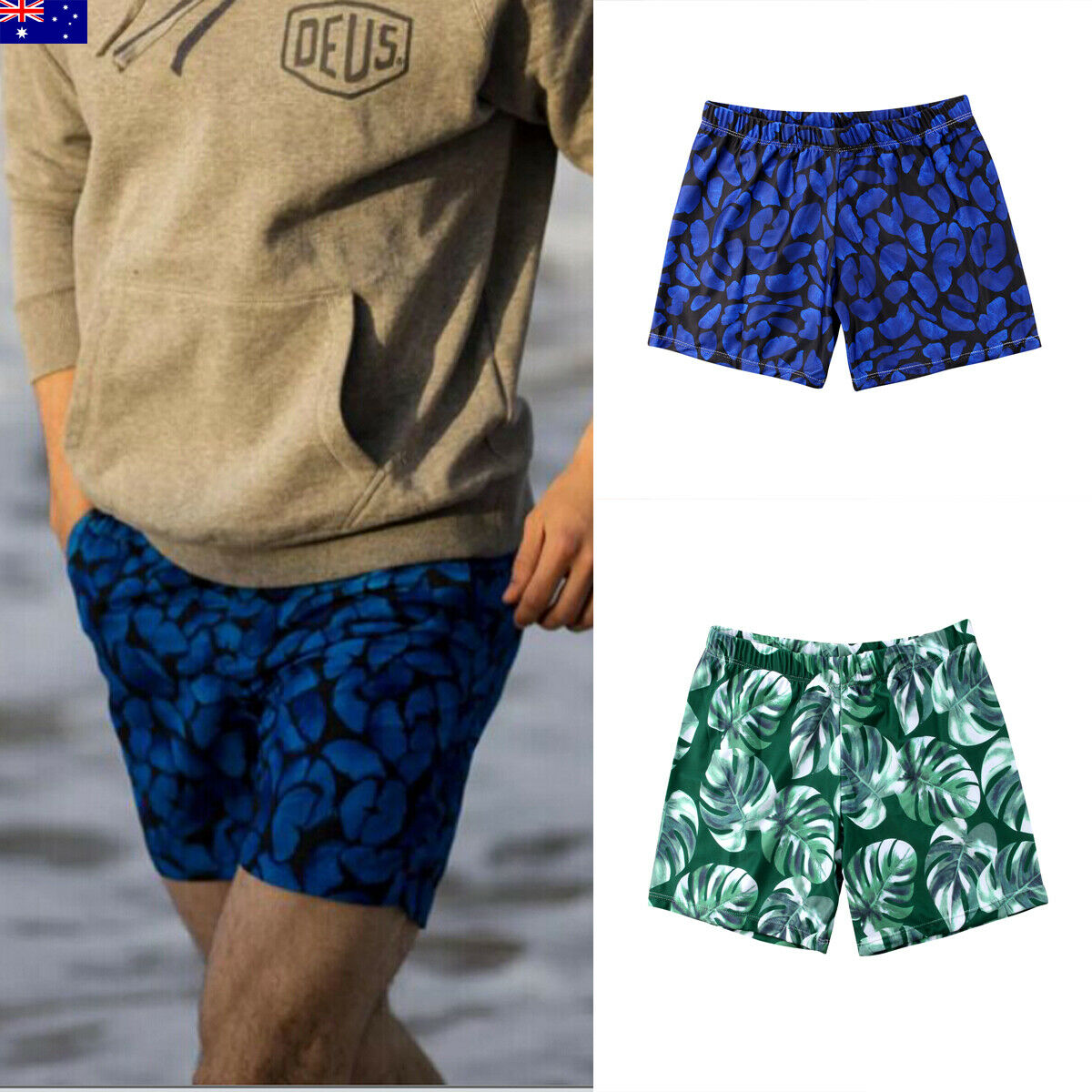 Mens Surf Beach Shorts Board Shorts Swimming Beach Quick Dry Swimwear Swimsuits Running Shorts Bathing Short Pants