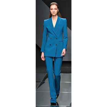 Female Office Uniform Double Breasted Ladies Formal Pant Suit Slim Fit Womens Suits Blazer with Pants Custom Made 2 Piece Set d8