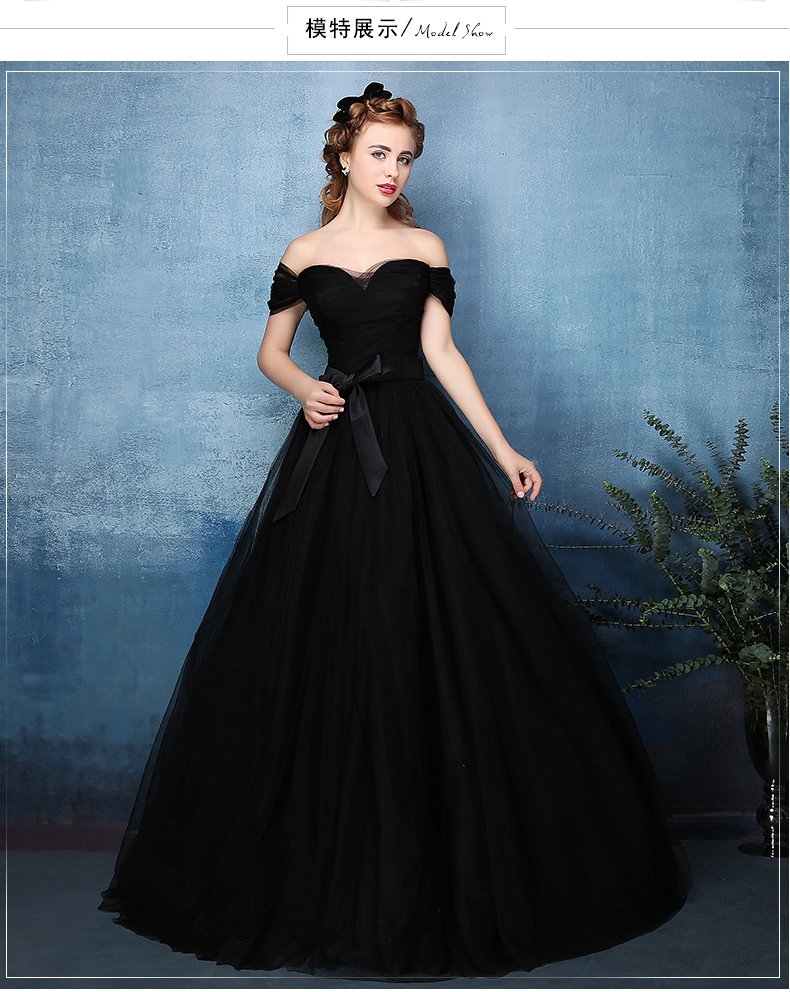 Black Plain Long Ball Gown Black Dress Royal Medieval Dress Princess