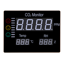 Best price Digital LCD Wall Mount Air Temperature RH 9999PPM Carbon Dioxide CO2 Monitor Gas Analyzers With Temperature and Humidity Tester