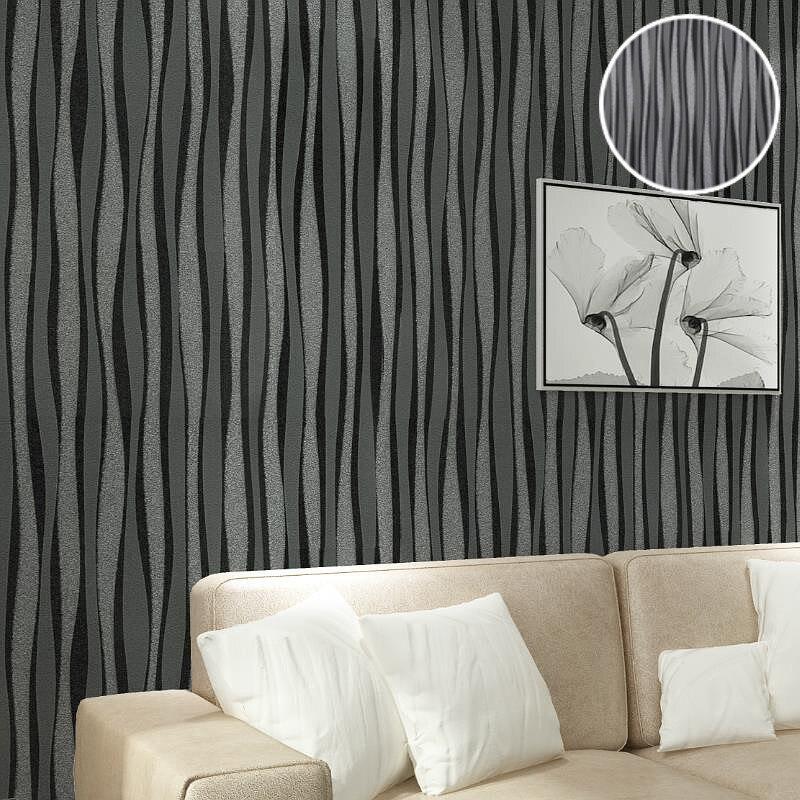 Black cream and silver wallpaper decor